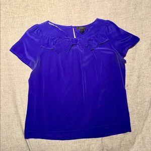 JCrew Silk short sleeved shirt 100% silk